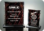 Back Beveled Rosewood Screened Plaque Achievement Awards