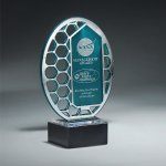 Reflective Excellence Oval with Silver Mirror Achievement Awards