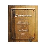 Reclaimed Wood Plaque - 10.5 X 13 Achievement Awards