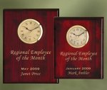 Piano Finish Wood Plaque Clock Achievement Awards