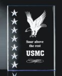 3 Dimensional Stars on Side Plaque Sales Awards