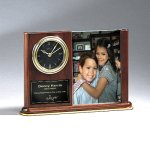 Walnut Piano Photo Holder and Clock Sales Awards