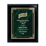 Ebony Finish Plaque with Marble Mist Sales Awards