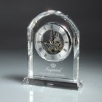 Optic Crystal Desk Clock Sales Awards