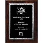 Walnut Finish Plaque with Black Florentine Sales Awards