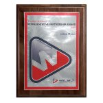 Choice of Digi-Color Plate on Genuine Walnut Board Sales Awards