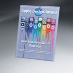 Thick Lucite Wall Plaque with Custom Digi-Color Sales Awards